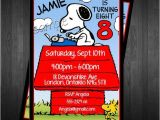 Charlie Brown 1st Birthday Invitations Invitation Mason S 1st Birthday Snoopy