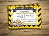 Charlie Brown Birthday Invitations Charlie Brown Birthday Party Invitation Peanuts Movie