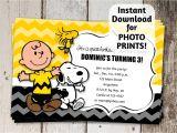 Charlie Brown Birthday Invitations Charlie Brown Snoopy Birthday Party by Instantinvitation
