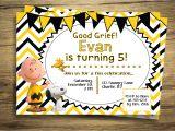 Charlie Brown Birthday Invitations Charlie Brown Snoopy Birthday Party Invitation Peanuts