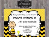 Charlie Brown Birthday Party Invitations Charlie Brown Invitation Charlie Brown Invite by