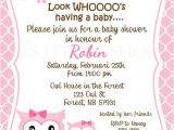 Cheap Baby Shower Invitation Cards Owl Sayings for Baby