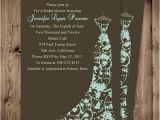 Cheap Bridal Shower Invitations Printable Cheap Brown Floral Gown Bridal Shower Invitations