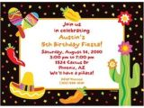 Cheap Customized Birthday Invitations Fiesta Party Personalized Invitation Each Cheap