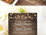 Cheap Fall themed Wedding Invitations Cheap Rustic Wooden String Light Mason Jar Fall Wedding