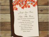 Cheap Fall themed Wedding Invitations Perfect Fall Wedding Invitations Ideas 2013