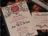 Cheap Halloween Wedding Invitations Templates Fall Halloween Wedding Invitations with Cheap