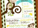 Cheap Monkey Baby Shower Invitations Monkey Baby Shower Invitations