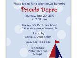 Cheap Nautical Baby Shower Invitations Cheap Nautical theme Baby Shower Invitations Templates