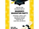Cheap Personalized Graduation Invitations Bright Yellow Graduation Personalized Invitation Cheap