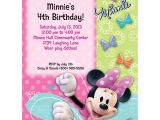 Cheap Personalized Party Invitations Minnie Mouse Personalized Invitation Each Discount