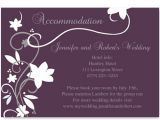Cheap Plum Wedding Invitations Cheap Rustic Floral Plum Wedding Accommodation Cards