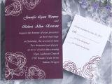 Cheap Plum Wedding Invitations Vintage Plum Rose Elegant Wedding Invitation Cards Online