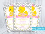 Cheap Rubber Duck Baby Shower Invitations Baby Shower Invitations Girl Rubber Ducky Yellow Pink Gray
