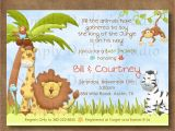 Cheap Safari Baby Shower Invitations Baby Shower Cakes 4 Image