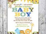 Cheap Safari Baby Shower Invitations Design Jungle theme Baby Shower Invitations Cheap Jungle