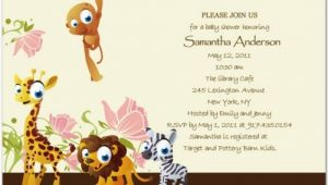 Cheap Safari Baby Shower Invitations Jungle Safari Baby Shower