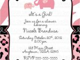 Cheap Safari Baby Shower Invitations the Most Viral Collection Pink Safari Baby Shower