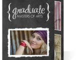 Cheap Tri Fold Graduation Invitations Graduation Invitation Typographic Chalkboard Graduate