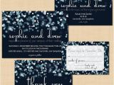 Cheap Wedding Invitations and Save the Dates Packages Sparkly Stars Water Save the Date Invitation Rsvp and