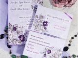 Cheap Wedding Invitations with Free Response Cards Romantic Purple Floral Printable Wedding Invitation Cards