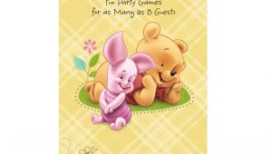 Cheap Winnie the Pooh Baby Shower Invitations Personalized Winnie the Pooh Baby Image