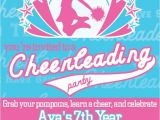 Cheerleading Birthday Party Invitations 17 Best Images About Cheerleading Party On Pinterest