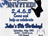 Cheerleading Birthday Party Invitations Cheerleading Birthday Party Invitation