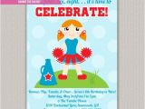Cheerleading Birthday Party Invitations Cheerleading Kids Birthday Invitation by Enchanteddesigns4u