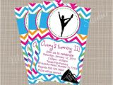 Cheerleading Birthday Party Invitations Cheerleading themed Printable Party Invitation