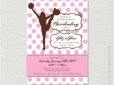 Cheerleading Birthday Party Invitations Printable Cheerleading Party Invitation Dance Party
