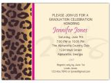 Cheetah Graduation Invitations Cheetah Graduation Party Invitations Paperstyle