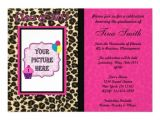 Cheetah Graduation Invitations Graduation Invitation Pink Leopard Cheetah 5 Quot X 7