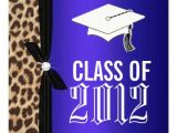 Cheetah Graduation Invitations Leopard Royal Blue Graduation Party 5 25 Quot Square