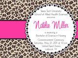 Cheetah Graduation Invitations Natelie Custom Cheetah Print Graduation by andreagerigdesigns