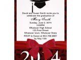 Cheetah Graduation Invitations Red Ribbon and Red Leopard Graduation Invitation 5 Quot X 7