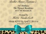 Cheetah Party Invitations Cheetah Print Birthday Invitation Kustom Kreations