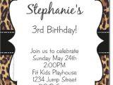 Cheetah Party Invitations Cheetah Print Invitation orderecigsjuice Info