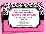 Cheetah Party Invitations Pink Cheetah Print Polka Dot Invitation Printable or Printed