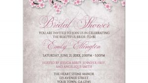 Cherry Blossom Bridal Shower Invitations Bridal Shower Invitations Rustic Pink Cherry Blossom