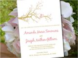 Cherry Blossom Wedding Invitation Template Love Bird Wedding Invitation Template Cherry Blossom Branch