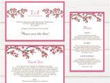 Cherry Blossom Wedding Invitation Template Tvw059 Cherry Blossom Branches Wedding Invitation