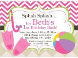 Child Pool Party Invitations Child Pool Party Invitation Template Free
