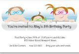 Child Pool Party Invitations Kids In the Pool Party Invitation
