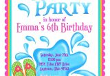 Child Pool Party Invitations Kids Pool Party Invite Home Party Ideas