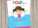 Child Pool Party Invitations Pool Invitation Pool Party Invitation Kids Pool Party