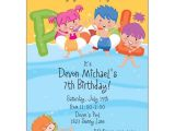 Child Pool Party Invitations Pool Party Kids Pool Invitations Paperstyle