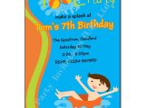 Child Pool Party Invitations Pool Swimming Party Invitation Party Invites