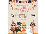Children S Halloween Party Invitations Vintage Kids Halloween Party Invitation Zazzle