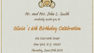 Children's Birthday Invitation Template Hearty Bear Children 39 S Birthdays